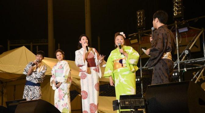 三吉彩花、やしろ優、chayが浴衣姿で登場『ダンスウィズミー』at 神宮外苑花火大会