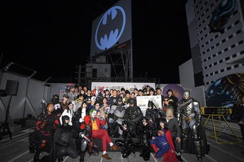 バットシグナルが渋谷の夜空に!『バットマン80周年記念 バットシグナル点灯セレモニー』