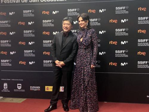 フォトセッション(是枝&ビノシュ)第67回サン・セバスティアン国際映画祭