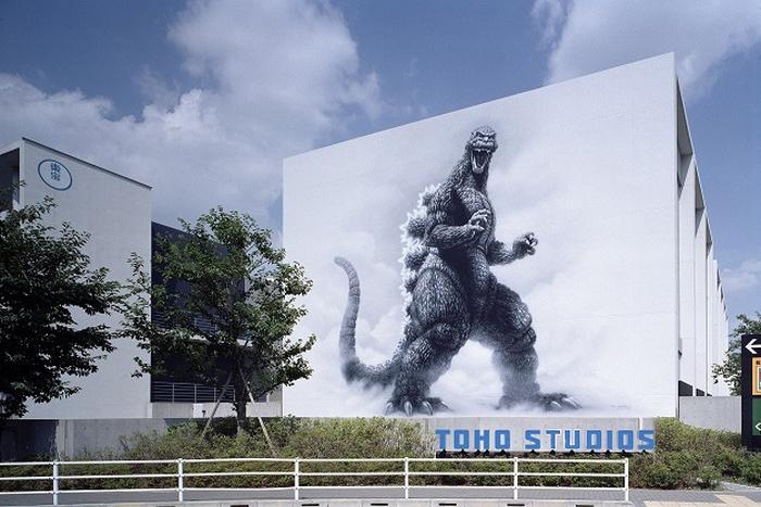 東宝スタジオ_ゴジラ壁画