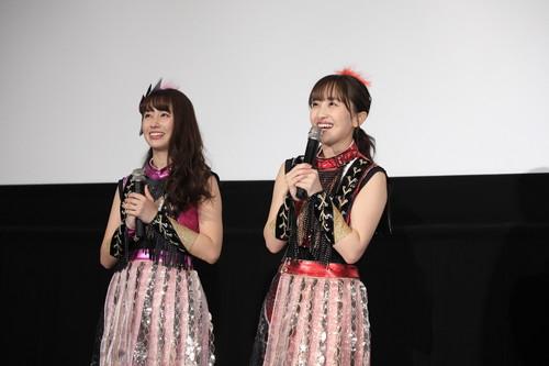 百田夏菜子&佐々木彩夏(ももいろクローバーZ)映画『最高の人生の見つけ方』公開記念舞台挨拶