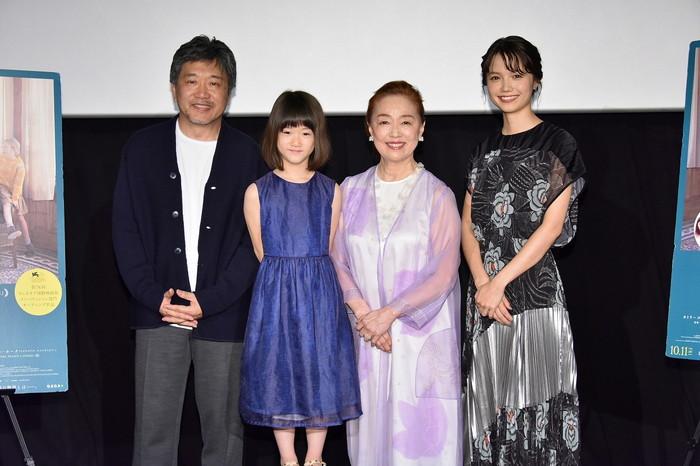宮本信子、宮﨑あおい、佐々木みゆ、是枝裕和監督『真実』公開記念舞台挨拶
