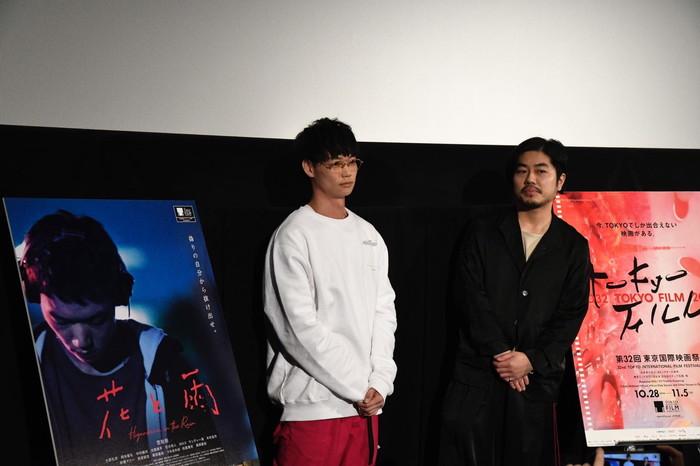 笠松将・土屋貴史監督 登壇 映画『花と雨』TIFF舞台挨拶・Q&Aイベント @東京国際映画祭