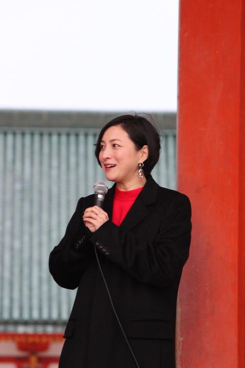 広末涼子『嘘八百 京町ロワイヤル』大ヒット祈願イベント
