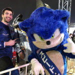 スピード・アンバサダーであるソニックが『アイスクロス WC 横浜2020』開会宣言&超速パフォーマンスを披露!!