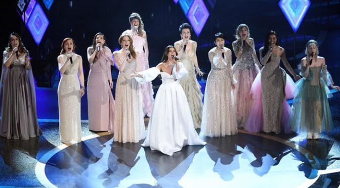 松たか子「イントゥ・ジ・アンノウン」をイディナ・メンゼルほか世界9か国のエルサ役と熱唱!アカデミー賞授賞式