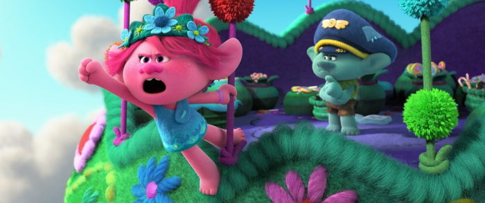(from left) Poppy (Anna Kendrick) and Branch (Justin Timberlake) in DreamWorks Animation's Trolls World Tour, directed by Walt Dohrn.