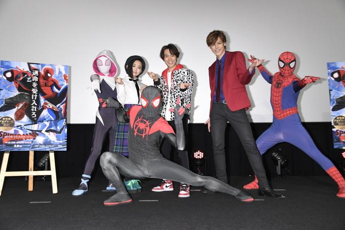 小野賢章・宮野真守・悠木碧 スパイダーマン達と共演!『スパイダーマン:スパイダーバース』舞台挨拶