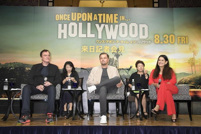 レオナルド・ディカプリオ、クエンティン・タランティーノ『ワンス・アポン・ア・タイム・イン・ハリウッド』来日会見