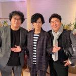 稲垣吾郎withポン・ジュノ & ソン・ガンホ