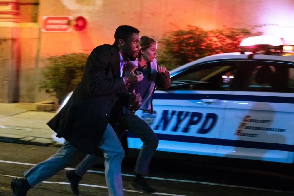 Chadwick Boseman and Sienna Miller star in 21 BRIDGES