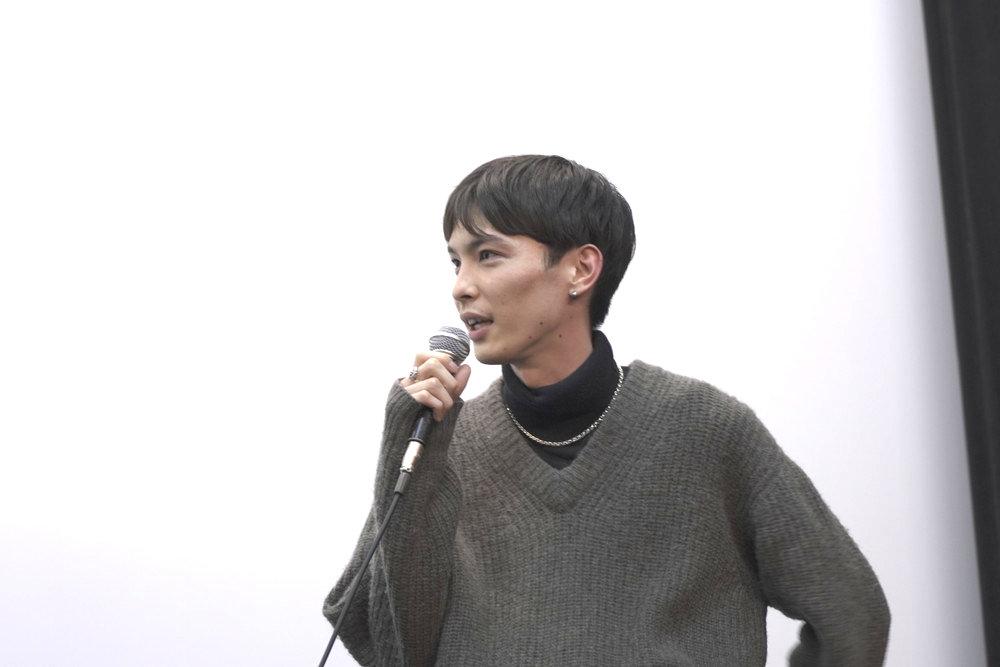 三澤監督_ある殺人、落葉のころに_初日舞台挨拶