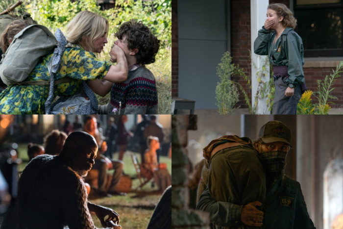 "Evelyn (Emily Blunt) and Marcus (Noah Jupe) brave the unknown in ""A Quiet Place Part II."""