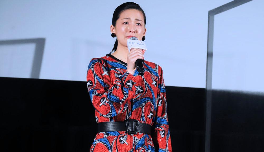 尾野真千子『茜色に焼かれる』公開前夜最速上映会