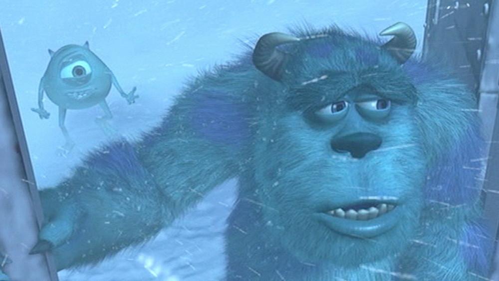 『モンスターズ・インク』場面写真(雪山でサリーとマイクが喧嘩するシーン