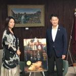 「8時15分ヒロシマ」広島市長を表敬訪問