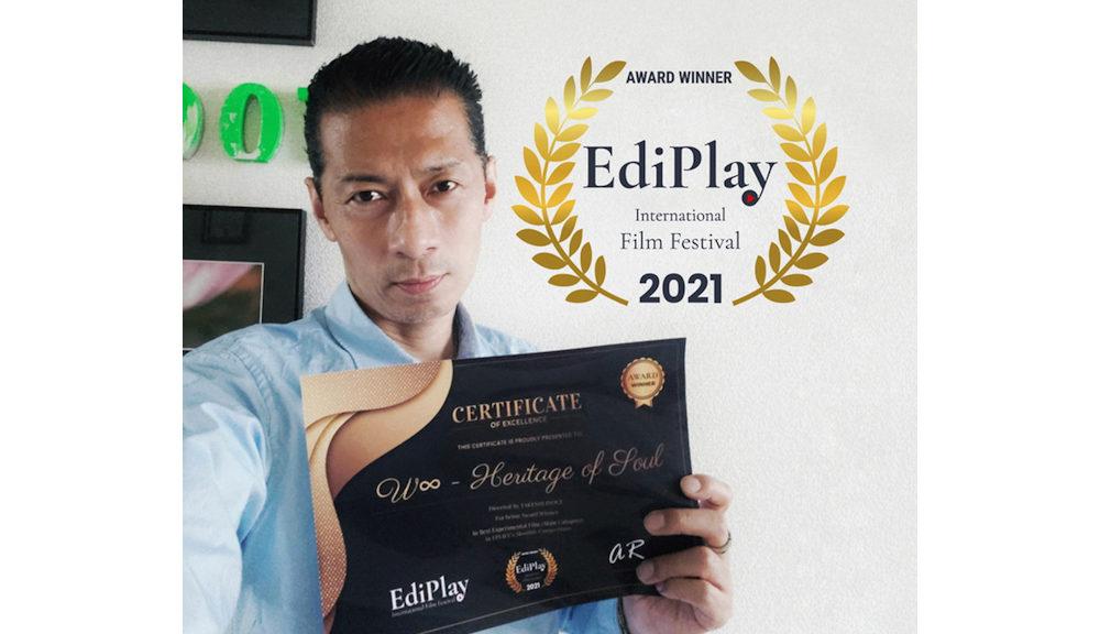 井上タケシ監督『W∞ - Heritage of Soul -』が「EdiPlay 国際映画祭」実験映画部門グランプリ