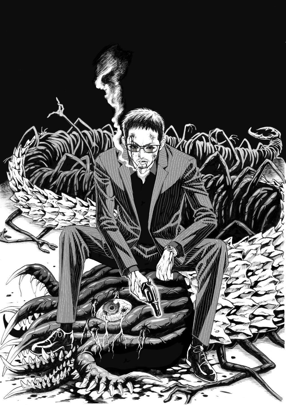 本田真吾先生(ハカイジュウ)コラボイラスト